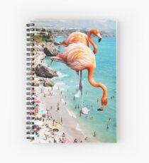 Flamingos on the Beach #redbubble #decor Spiral Notebook
