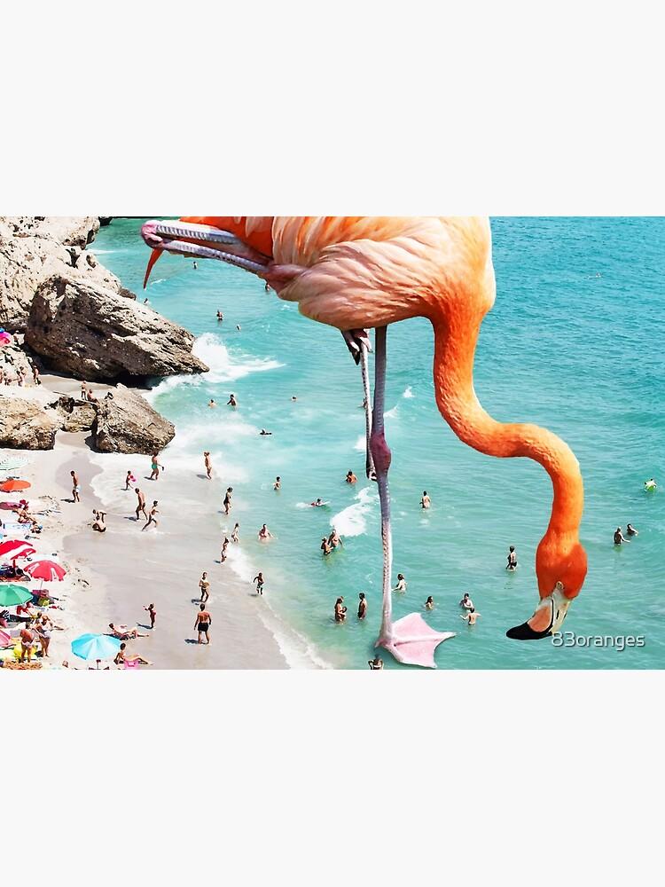 Flamingos am Strand #redbubble #decor von 83oranges