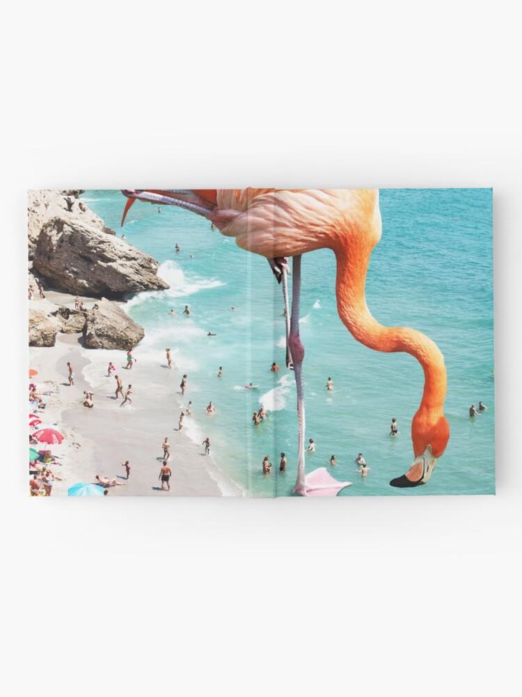 Alternative Ansicht von Flamingos am Strand #redbubble #decor Notizbuch
