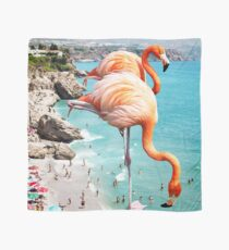 Flamingos on the Beach #redbubble #decor Scarf