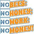 No Bees, No Honey! by ezcreative