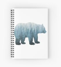 Misty Forest Bear - Türkis Spiralblock