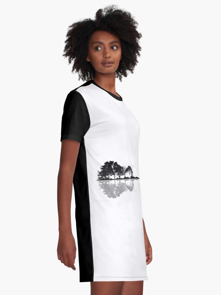 Vista alternativa de Vestido camiseta Naturaleza Guitarra