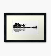 Nature Guitar Framed Print