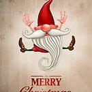 Happy Christmas elf Greeting card by jordygraph