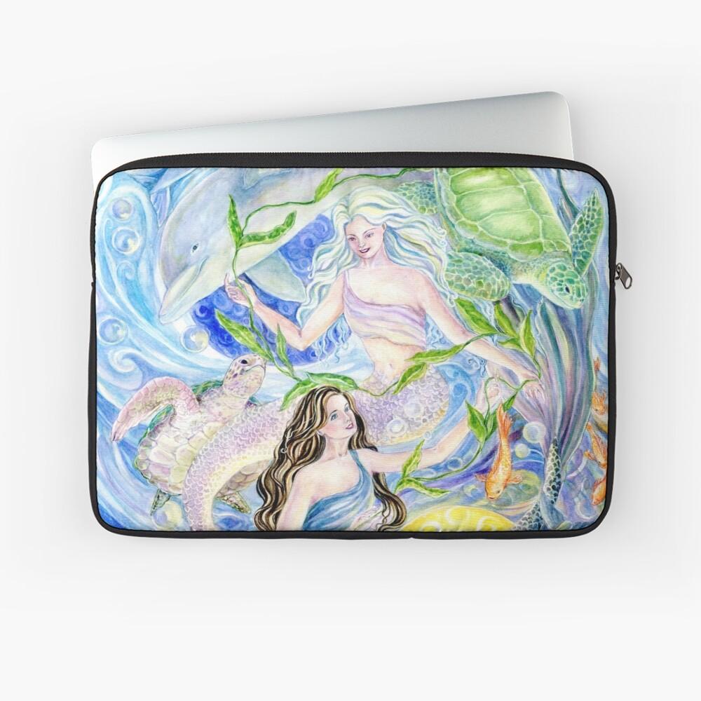 Yin Yang Meerjungfrauen Laptoptasche