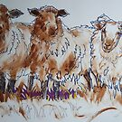 Sheep Drawing using Sharpie and dry brush acrylic by MikeJory