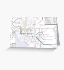 Melbourne train and tram map Greeting Card