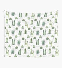 Watercolour cacti & succulents Wall Tapestry