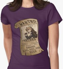 WANTED (Purple Ver.) Women's Fitted T-Shirt