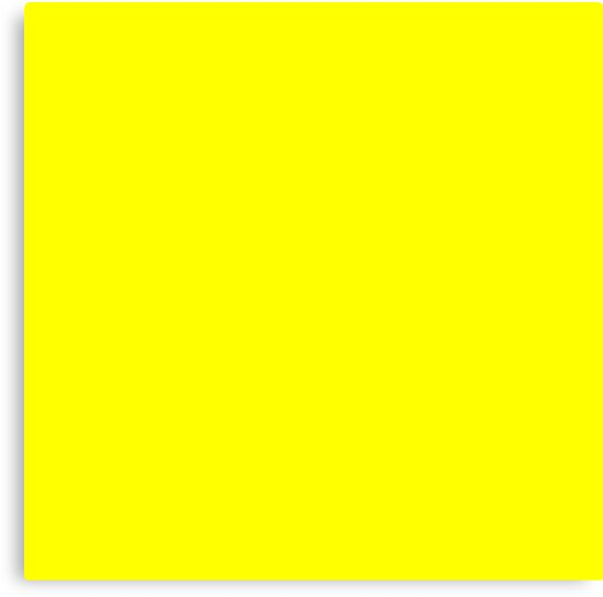 """Bright Fluorescent Yellow Neon"" Canvas Print by podartist ..."