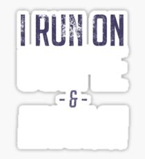 I Run On Coffee And Insulin - Diabetes Awareness Sticker