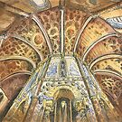 Charola. Convento de Cristo. Tomar. ink and watercolor by terezadelpilar ~ art & architecture