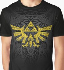Hyrule Emblem Gelb Grafik T-Shirt