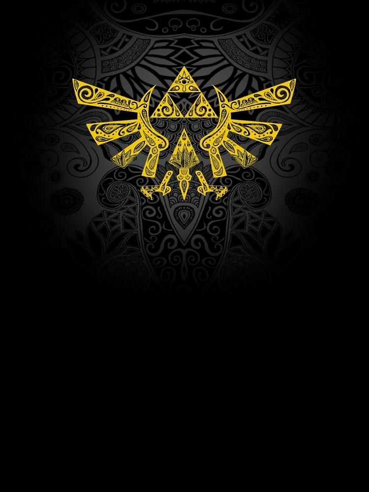 Emblema Hyrule Amarillo de artetbe