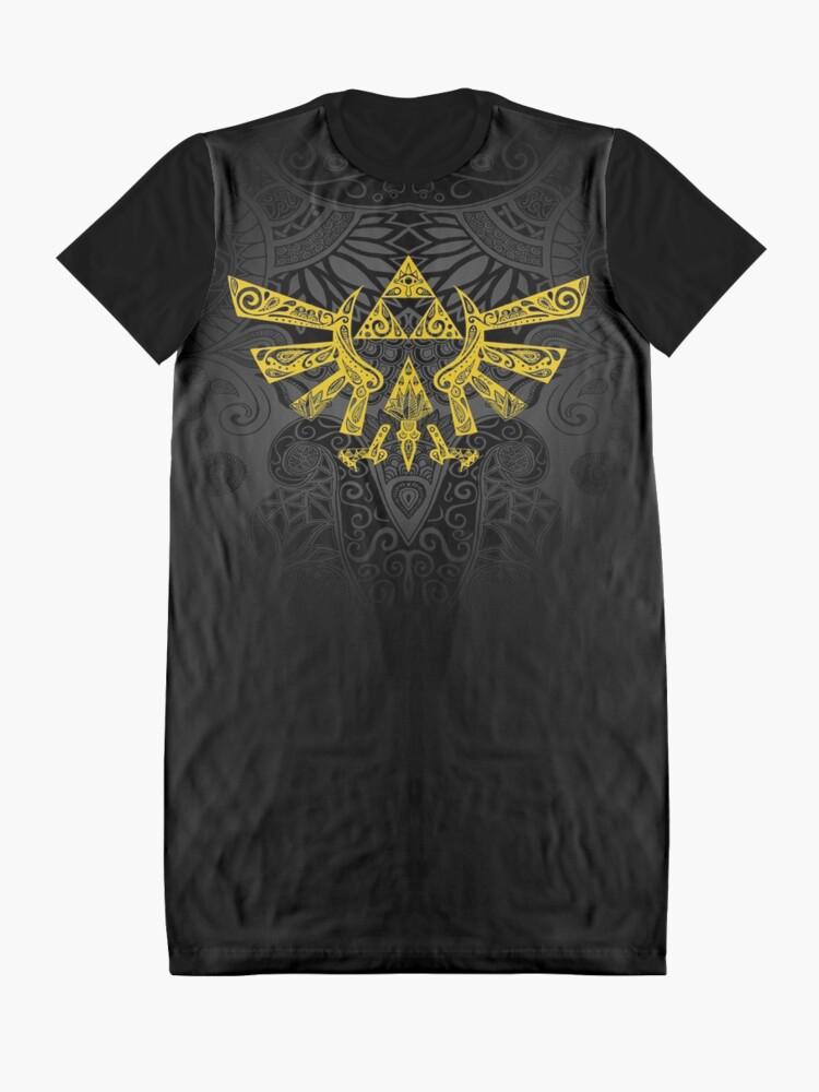 Vista alternativa de Vestido camiseta Emblema Hyrule Amarillo