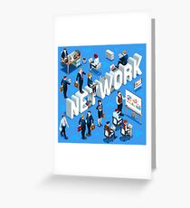 Isometric People Network Icon 3D Set Vector Illustration   Greeting Card