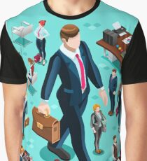 Isometric Isolated Business People Icon Set Vector Illustration   Graphic T-Shirt