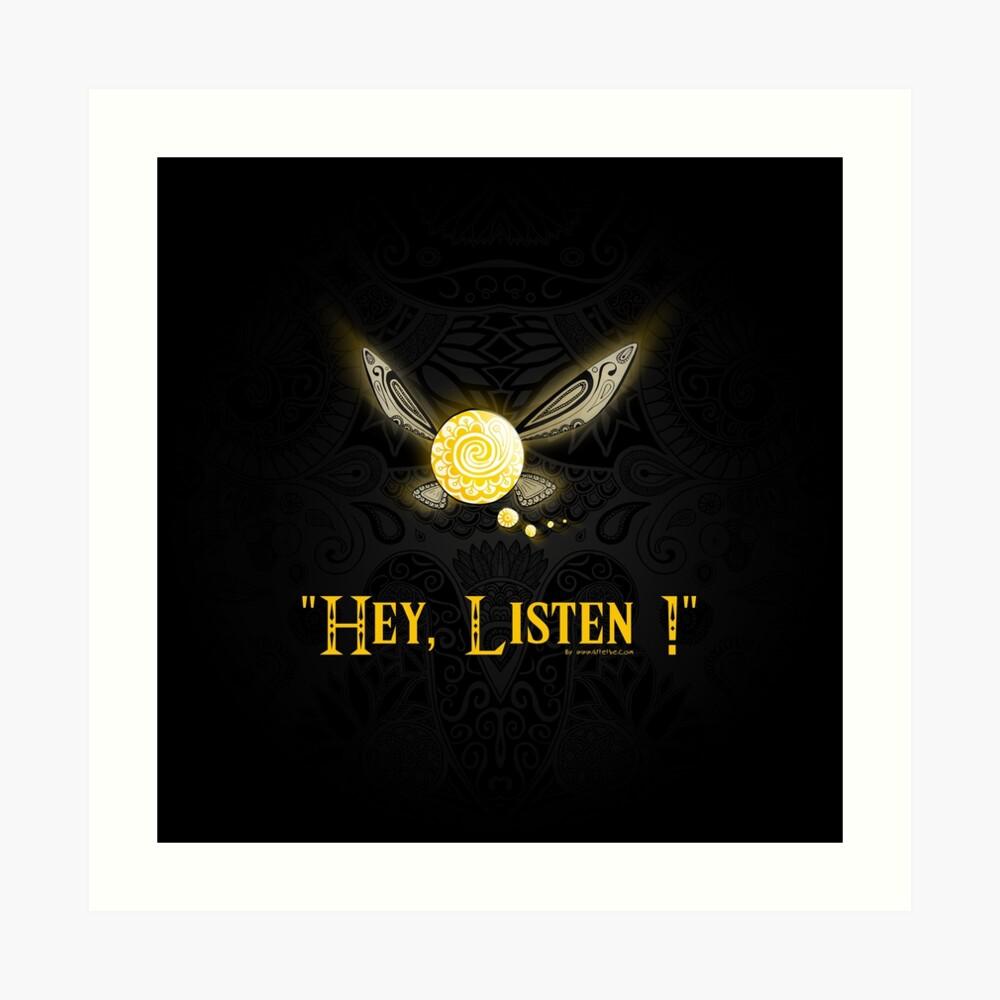 Hey! Escucha ! Lámina artística