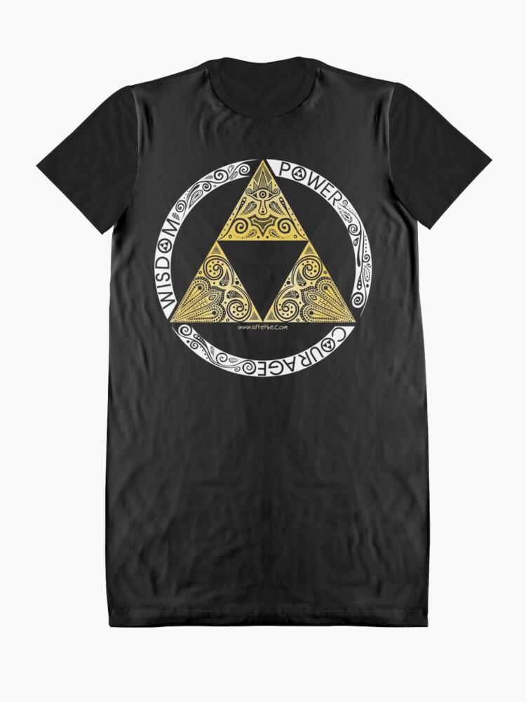 Alternate view of Zelda - Triforce circle Graphic T-Shirt Dress