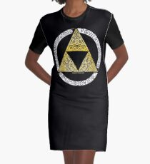 Zelda - Triforce circle Graphic T-Shirt Dress