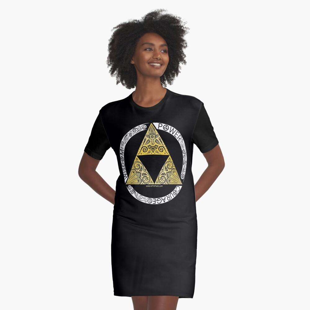 Zelda - Triforce circle Graphic T-Shirt Dress