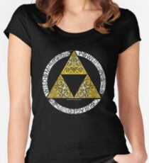Zelda - Triforce-Kreis Tailliertes Rundhals-Shirt