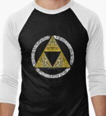 Camiseta ¾ bicolor para hombre Zelda - Círculo de la Trifuerza