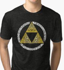 Zelda - Triforce circle Tri-blend T-Shirt