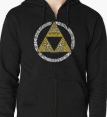 Zelda - Triforce circle Zipped Hoodie