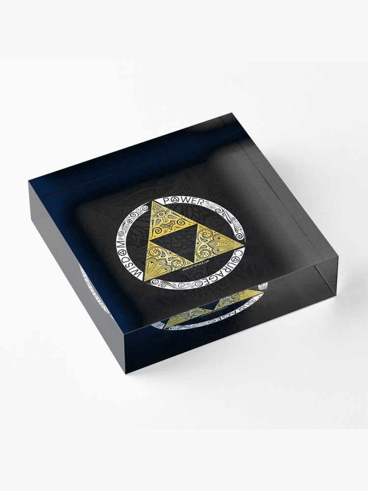 Alternate view of Zelda - Triforce circle Acrylic Block