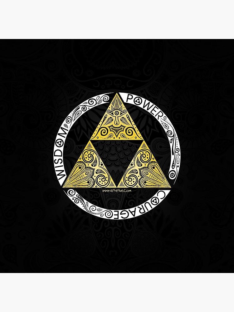 Zelda - Triforce circle by artetbe
