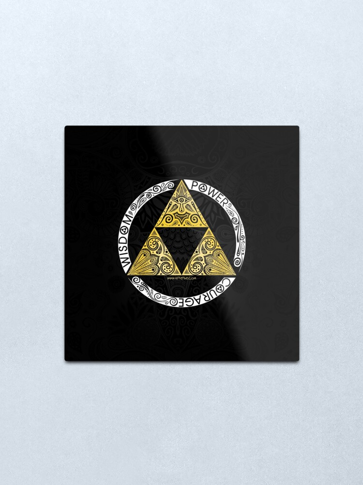 Alternate view of Zelda - Triforce circle Metal Print