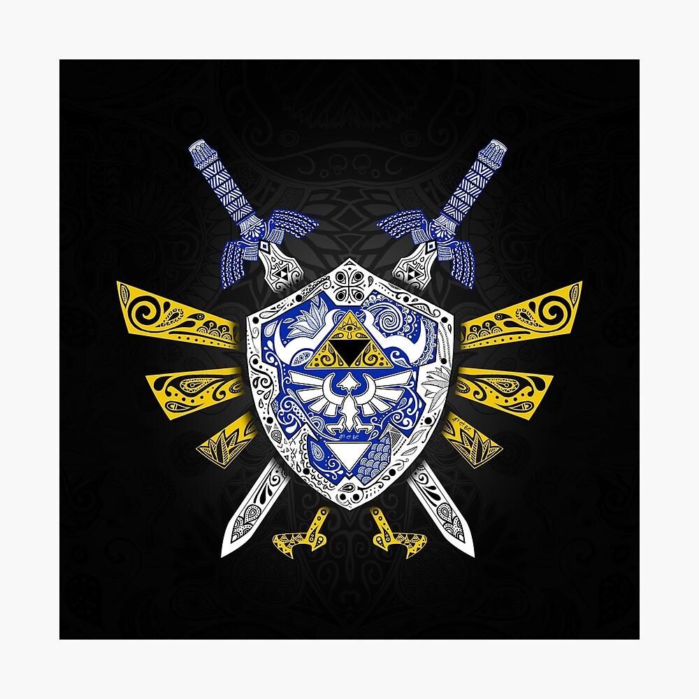 Leyenda de los héroes - Zelda Lámina fotográfica