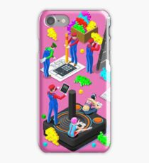 Video Retro Game Gaming Isometric People Vector Illustration iPhone Case/Skin