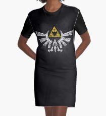 Zelda - Hyrule Gekritzel T-Shirt Kleid