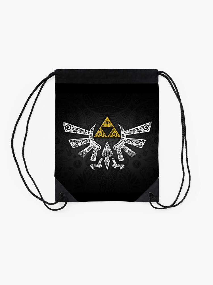 Alternate view of Zelda - Hyrule doodle Drawstring Bag