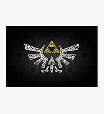 Zelda - Hyrule doodle Photographic Print