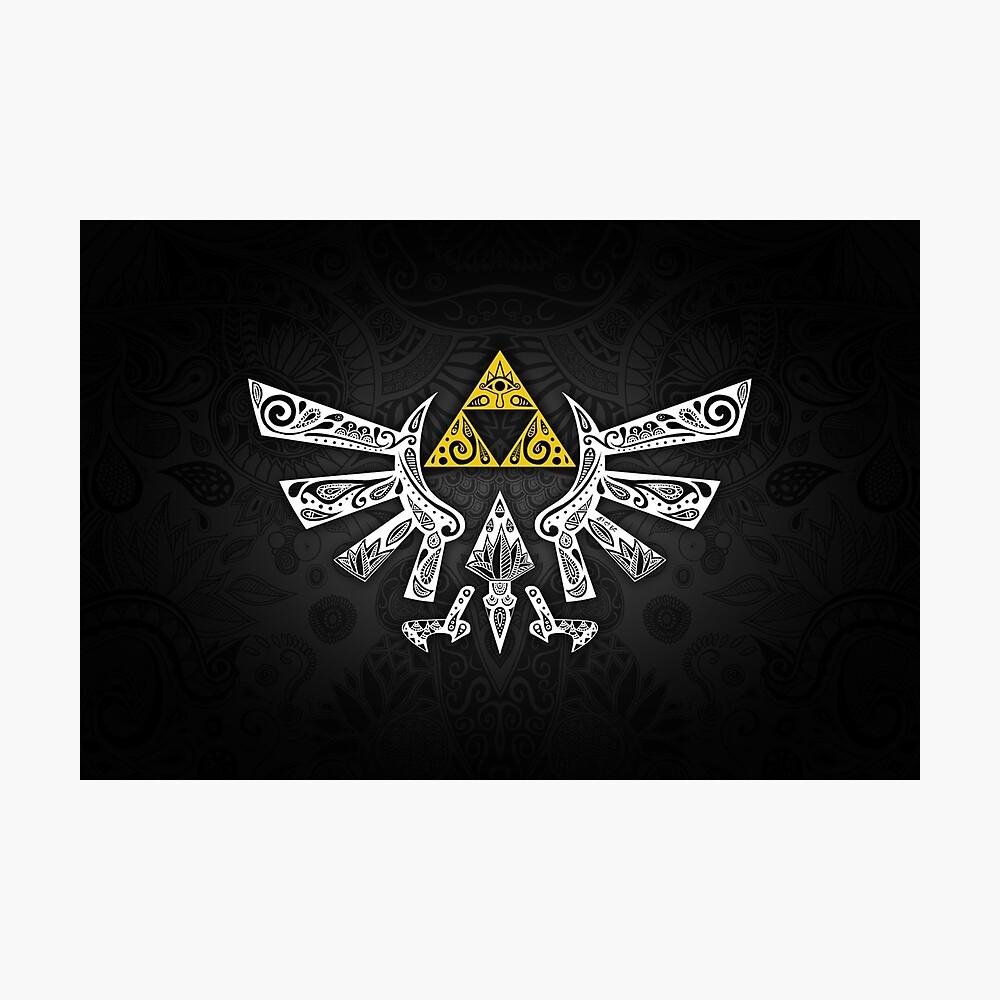 Zelda - Hyrule Gekritzel Fotodruck