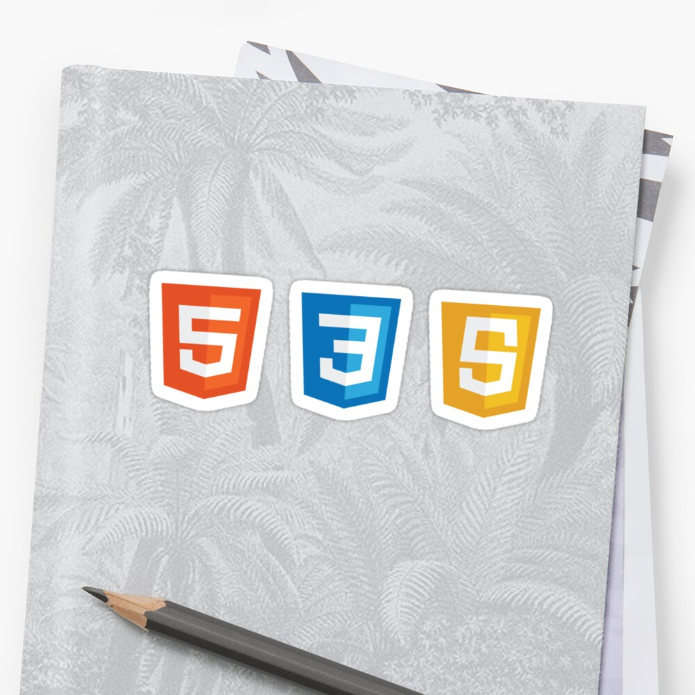 HTML5, CSS3, JS Logos Pegatinas
