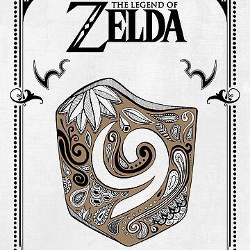 Leyenda de Zelda - Escudo Kokiri de artetbe
