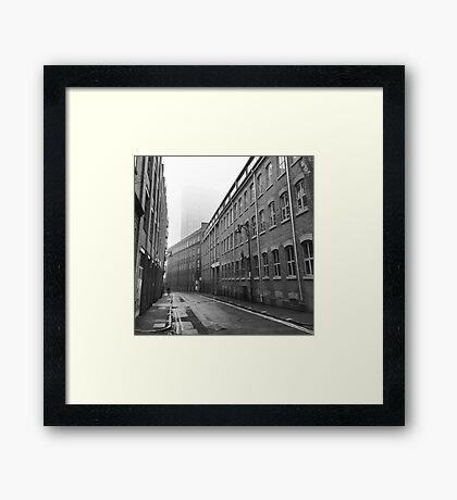 Foggy Leicester Street Framed Print