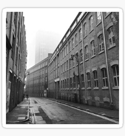 Foggy Leicester Street Sticker