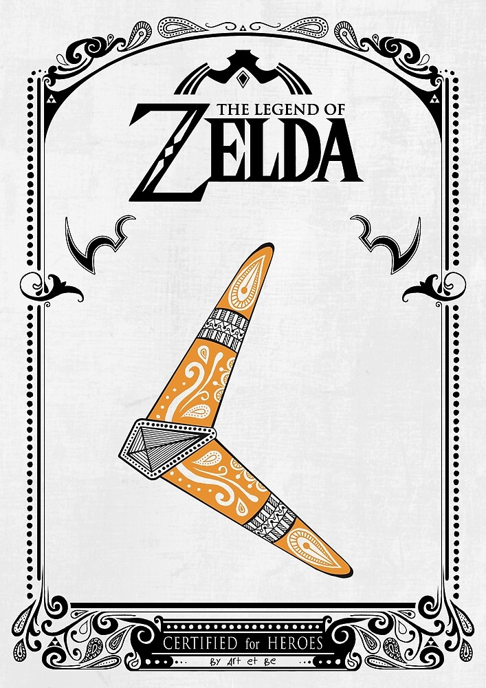 «Zelda legend - Boomerang doodle» de artetbe