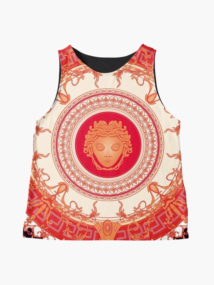 Alternative Ansicht von Versace inspiriert Design mit Medusa - Red Ärmelloses Top