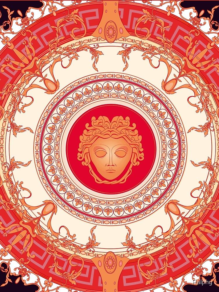 Versace inspiriert Design mit Medusa - Red von alphr3D