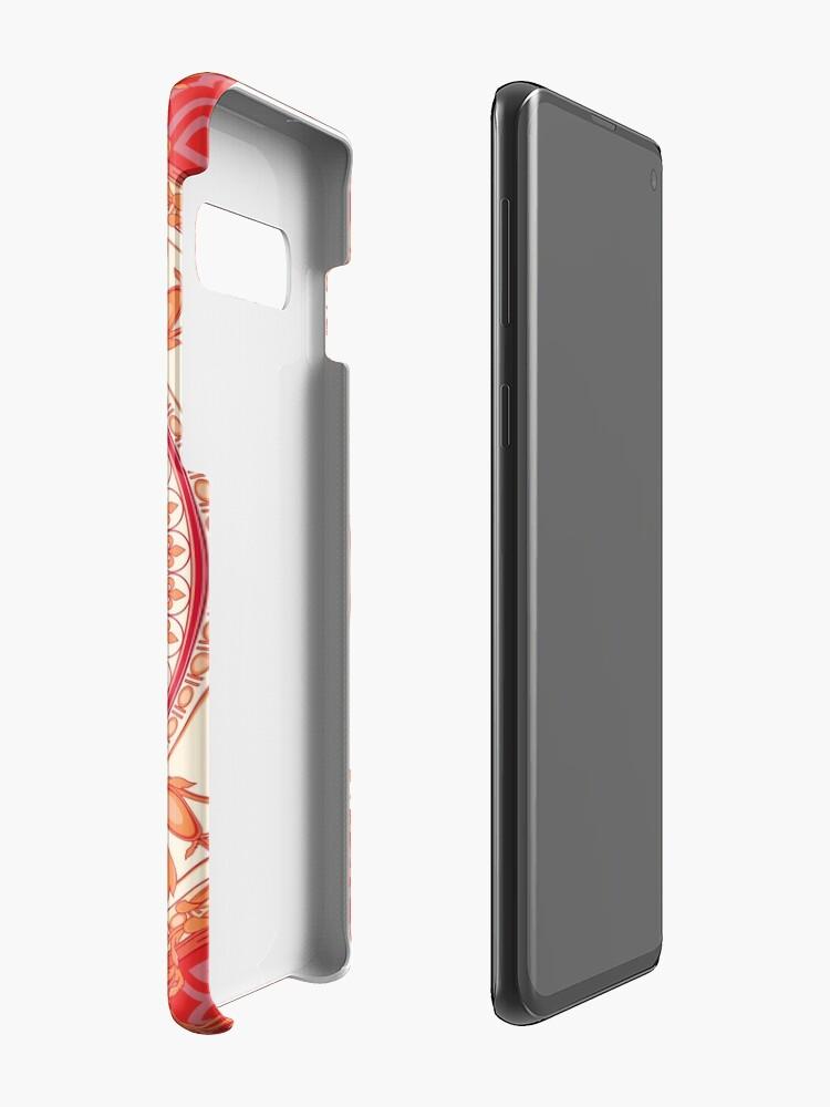 Alternative Ansicht von Versace inspiriert Design mit Medusa - Red Hülle & Klebefolie für Samsung Galaxy