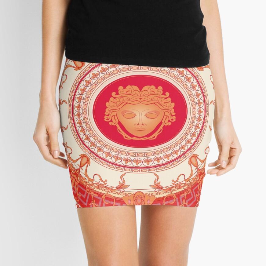 Versace inspiriert Design mit Medusa - Red Minirock