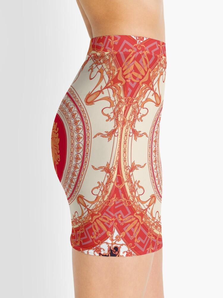 Alternative Ansicht von Versace inspiriert Design mit Medusa - Red Minirock