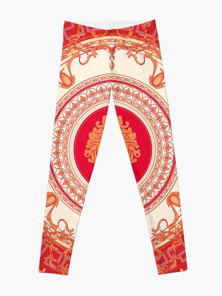 49e843b62e2081 Versace Inspired Design with Medusa - Red